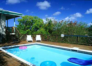 St John vacation rental Meridian large private pool and deck
