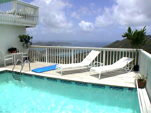 St John USVI vacation rental Viewtiful pool and deck with wonderful views