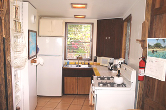 Two Bay View has a cozy kitchen!