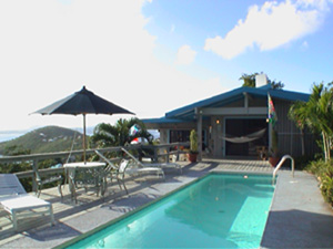 St John USVI vacation rental Tesseract pool and gigantic views